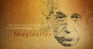 einstein quotes imagination poster brain atheist hair tongue